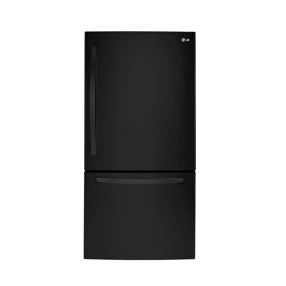 Lg Electronics 24 Cu Ft Bottom Freezer Refrigerator In Stainless Steel With Reversible Door Ldcs24223s The Home Depot Bottom Freezer Refrigerator Bottom Freezer Refrigerator
