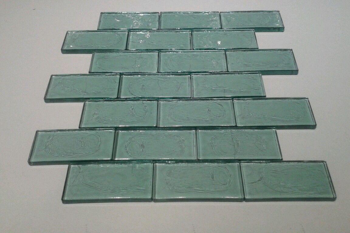 Aqua subway tile distressed sea glass wavy spa kitchen backsplash httpebayitmaqua subway dailygadgetfo Choice Image