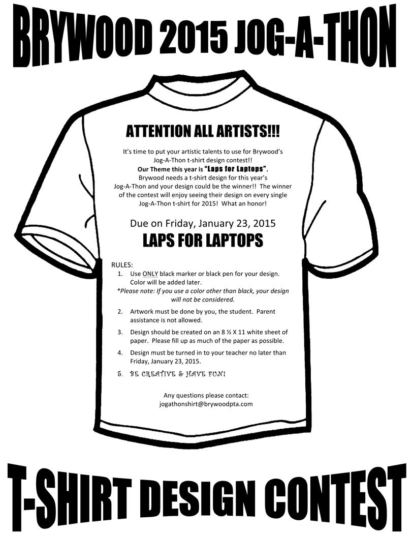 jog a thon artwork contest flyer 2015 pta pinterest t shirts shirt designs and shirts. Black Bedroom Furniture Sets. Home Design Ideas