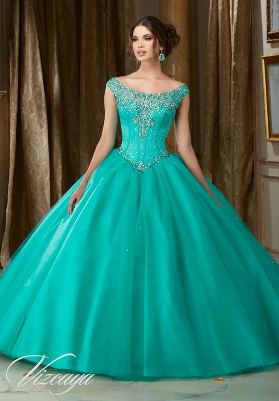ab532394c Barato Lindo turquesa vestidos Quinceanera com frisada vestido de festa.  Vestidos para xv años modernos y femeninos