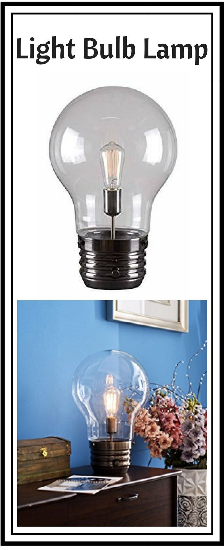 This huge light bulb lamp from Kenroy is so whimsical and ...