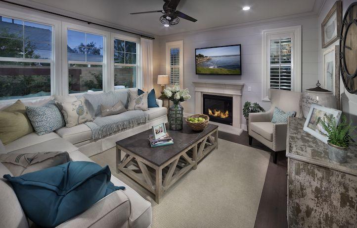 Larkspur Residence 2 Living Space. New Homes. Real Estate. Lennar. Irvine. Beacon Park. Orange County. California.