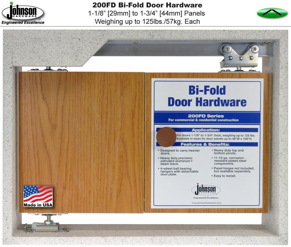 Johnson Hardware 200fd Bi Fold Door Hardware Jhusa Net Sliding Folding Pocket Door Hardware Bifold Doors Folding Door Hardware Folding Doors