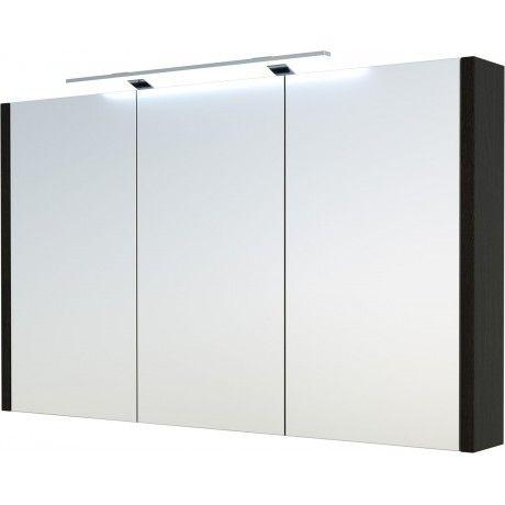 Albero Design Trento Spiegelschrank mit LED Aufsteckleuchte, eiche - badezimmer spiegelschrank led