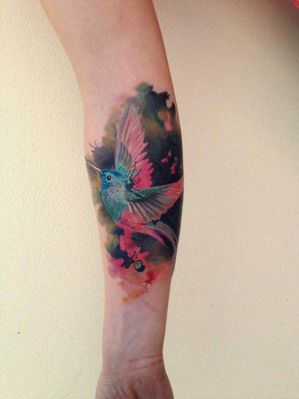 9e4a8bccdf669 Hummingbird forearm tattoo - 55 Amazing Hummingbird Tattoo Designs <3 <3