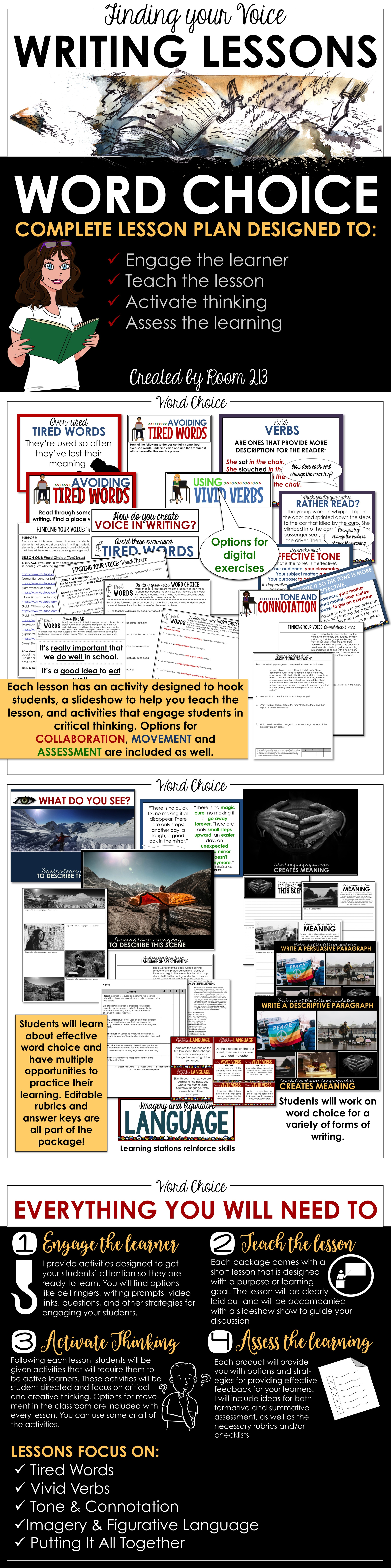 Writing Lessons Word Choice Distance Learning Options