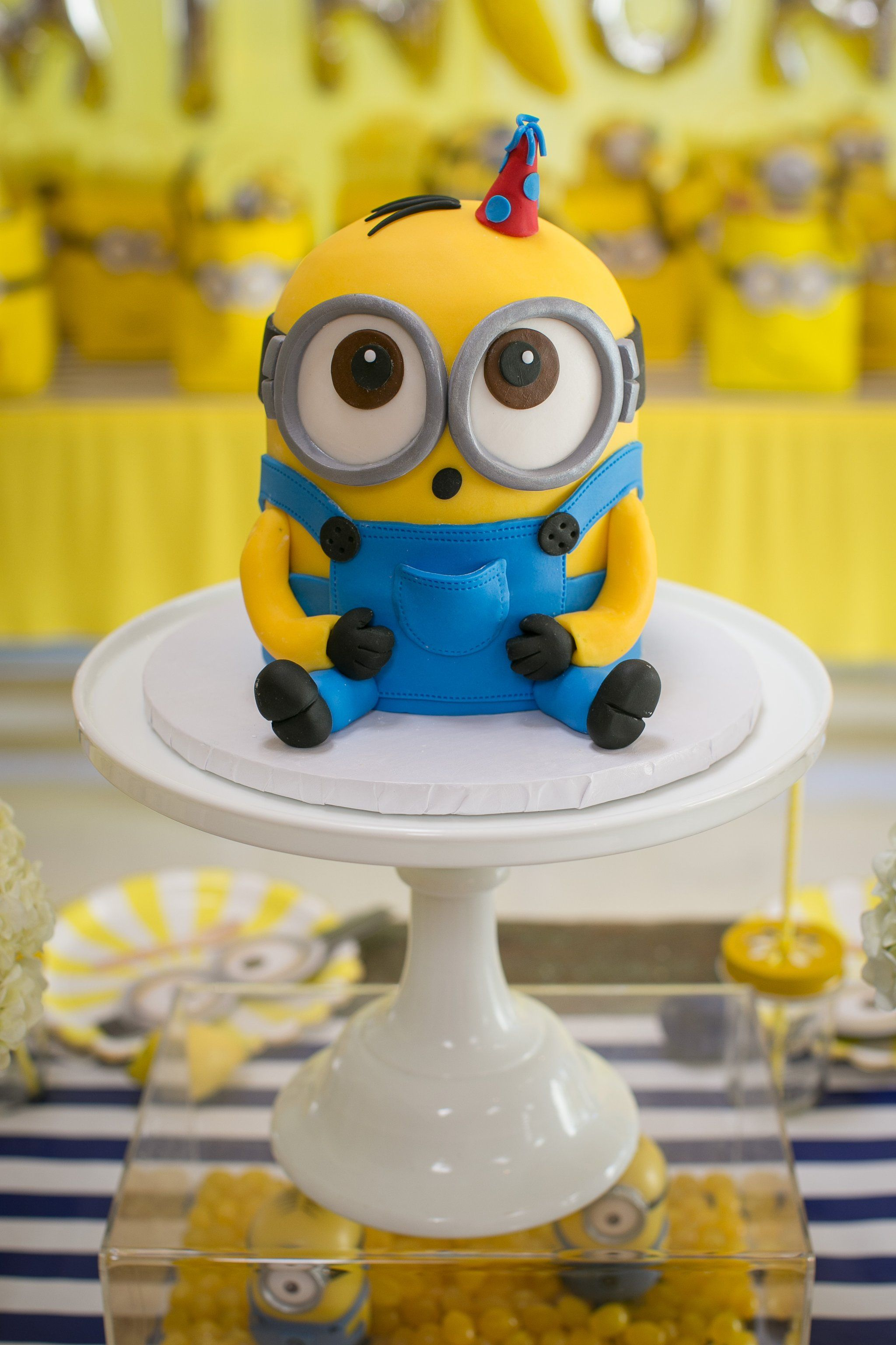 This One In A Minion Birthday Party Will Have Your Kiddo Going Bananas In 2020 Minion Birthday Party Minion Birthday Birthday Cake Kids