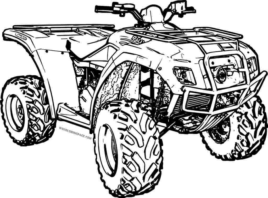 Atv Four Wheeler Coloring Pages Coloring Pages Truck Coloring Pages Disney Funny