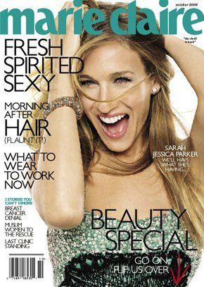 Sarah Jessica Parker on the cover of Marie Claire