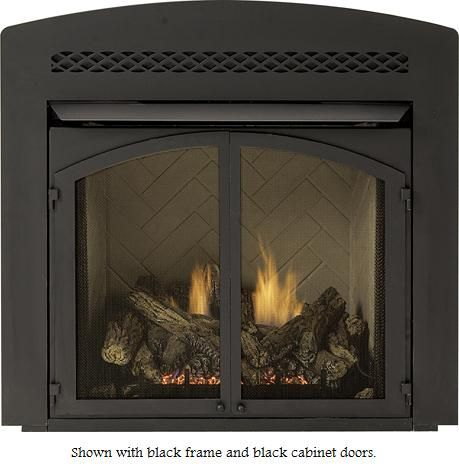 Majestic Black Designer Arched Front With Lower Control Door For