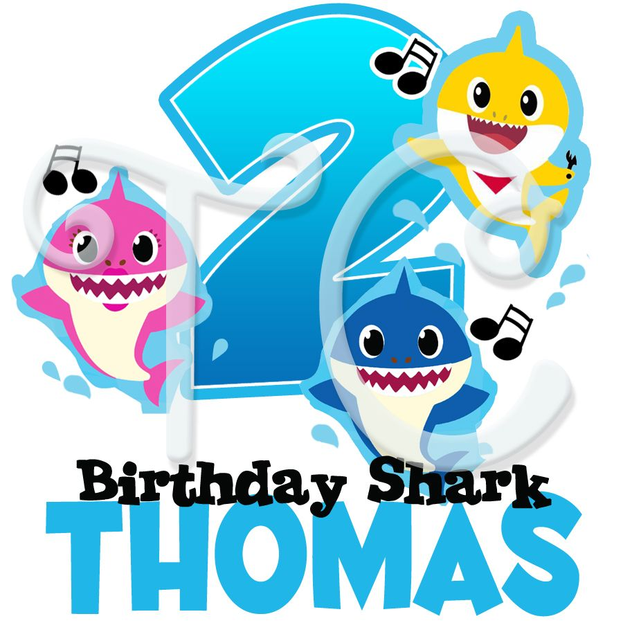 Baby shark personalized birthday tshirt custom birthday