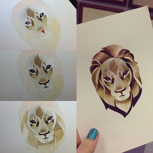 #lion #watercolor