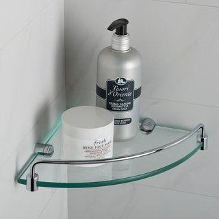 Kraus Elie Kea 18846 Corner Bathroom Shelf In Chrome Brushed