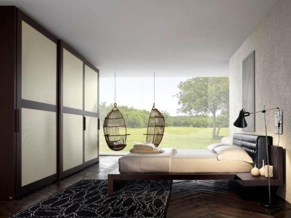 Schlafzimmer Venda ~ Warmes schlafzimmer design hängestühle wohnen und leben