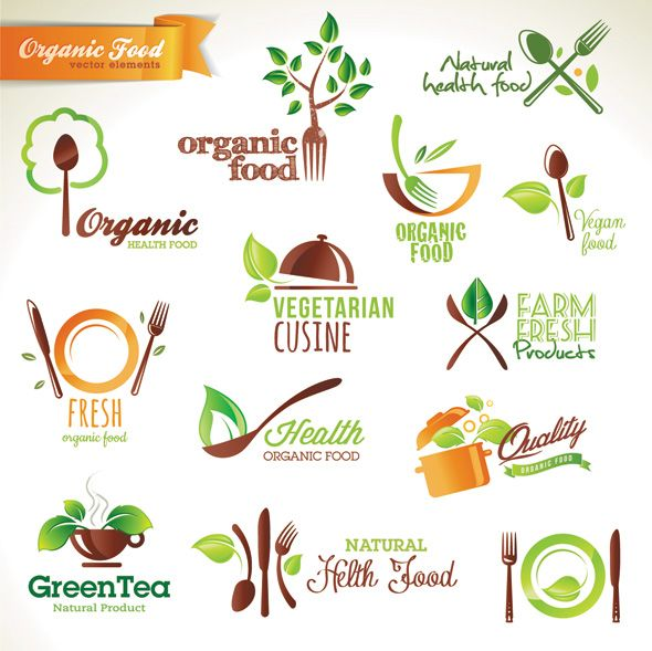 Organic Food Logo Vectors Vector Bee Organic Food Logo Organic Recipes Logo Food