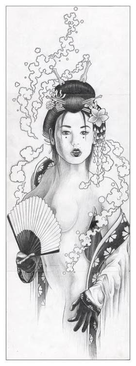 Chaude japonaise apprenant à dvenir une geisha -