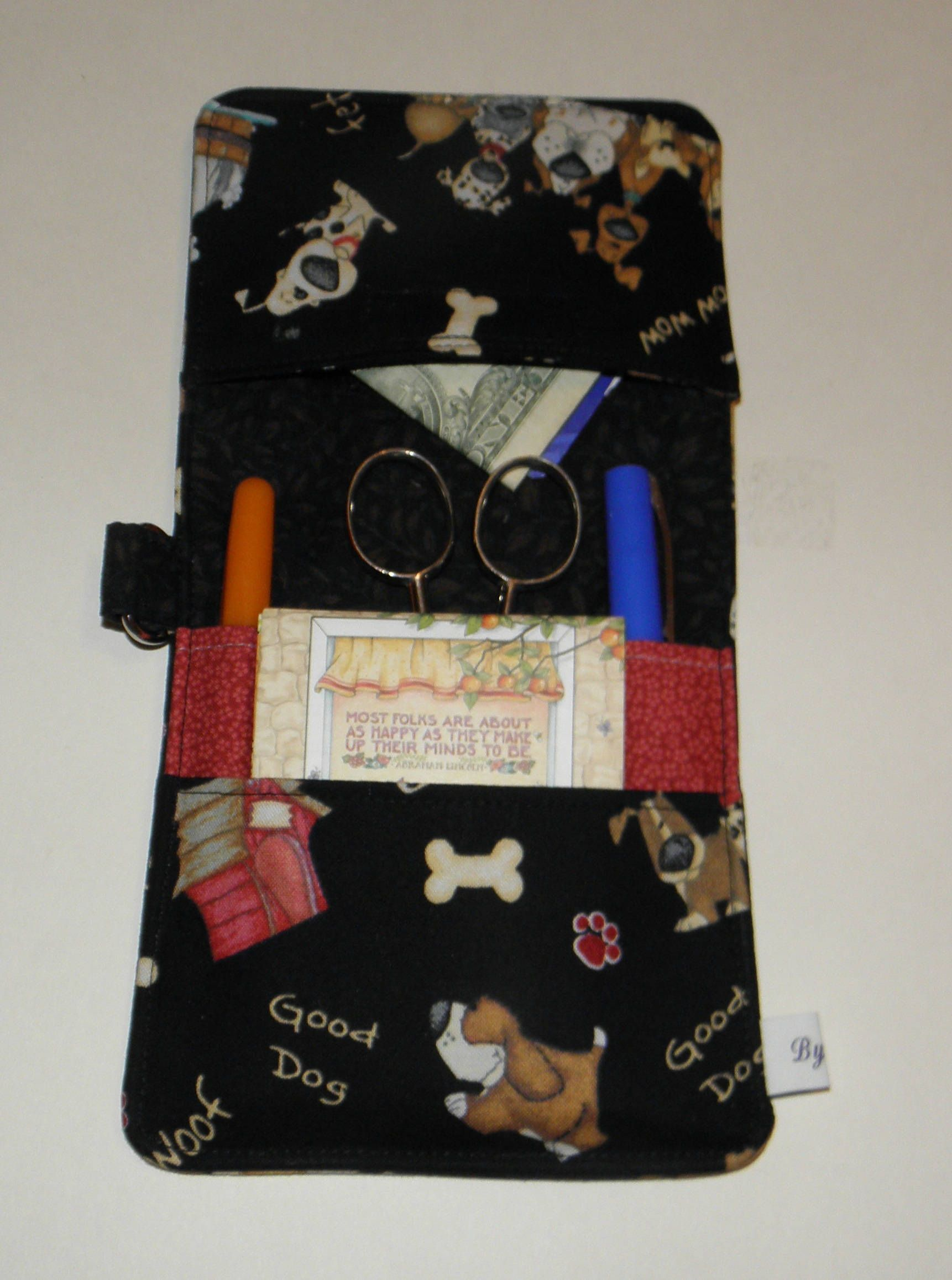 Medical Pocket Organizer Vet Tech Pocket Organizer Dog Print Nurse Scrub Pocket Lab Coat Organizer Ready to Ship 5 Pockets