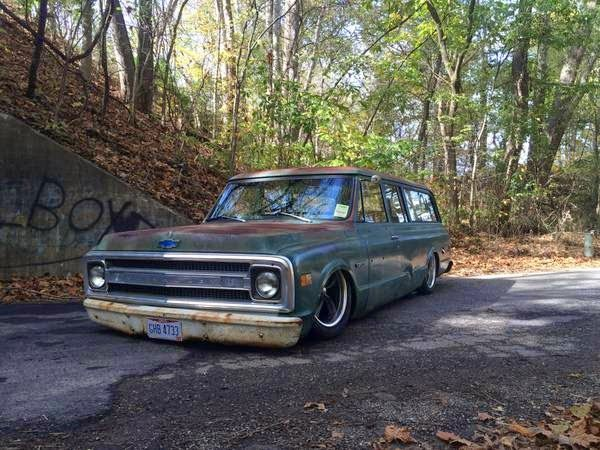 1969 Chevy Suburban 3 Door Shop Truck Patina Hot Rod Auto