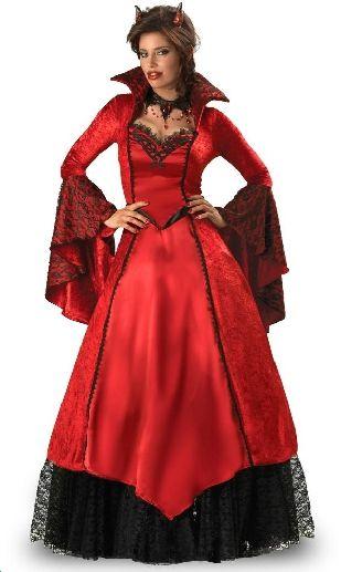Halloween Pakjes.Prachtig Duivelin Of Vampier Kostuum Bij Party Pakjes