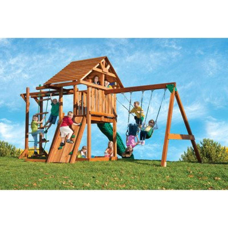 Living Better Now Backyard Swing Set Slide Fun Playground Playset Wood Outdoor Boy Girl Kid Child You Can Backyard Playground Swing Set Swing Sets For Kids