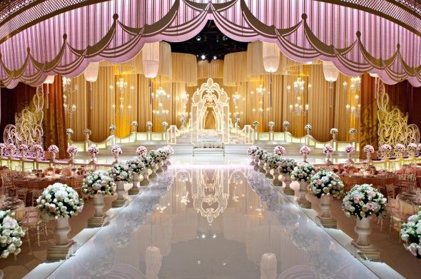 Dubai wedding decoration for Arabic stage decoration