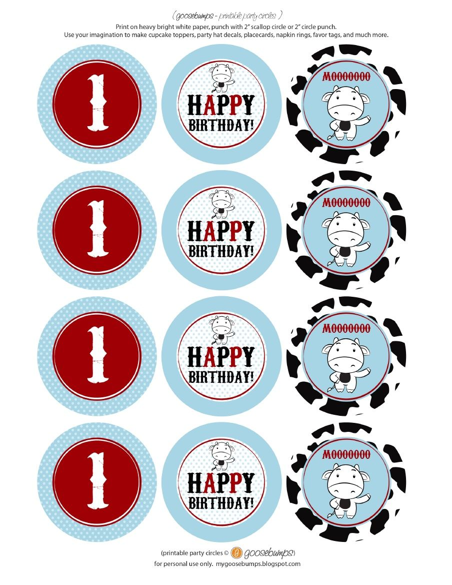 found the adorable cow party printables that would make great
