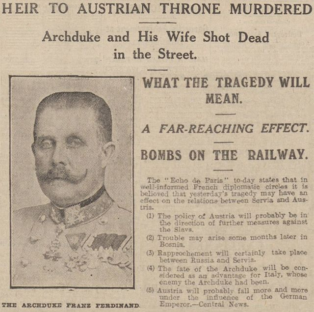 CM 1 WW1 was caused by an Siberian assassin killing the Hungarian