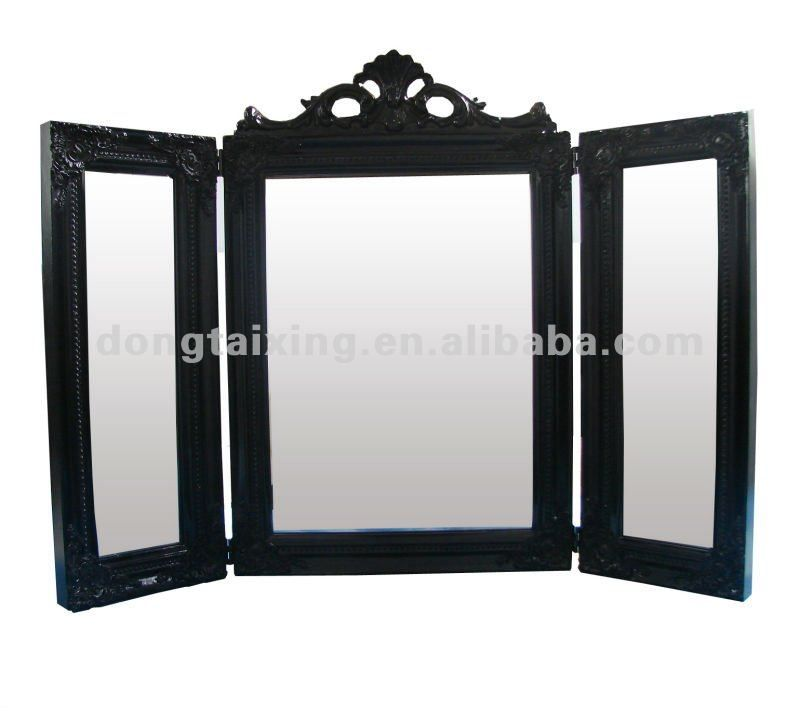 Bon 3 Way Mirror Table Stand Up Mirror Classic Wooden Folding Mirror