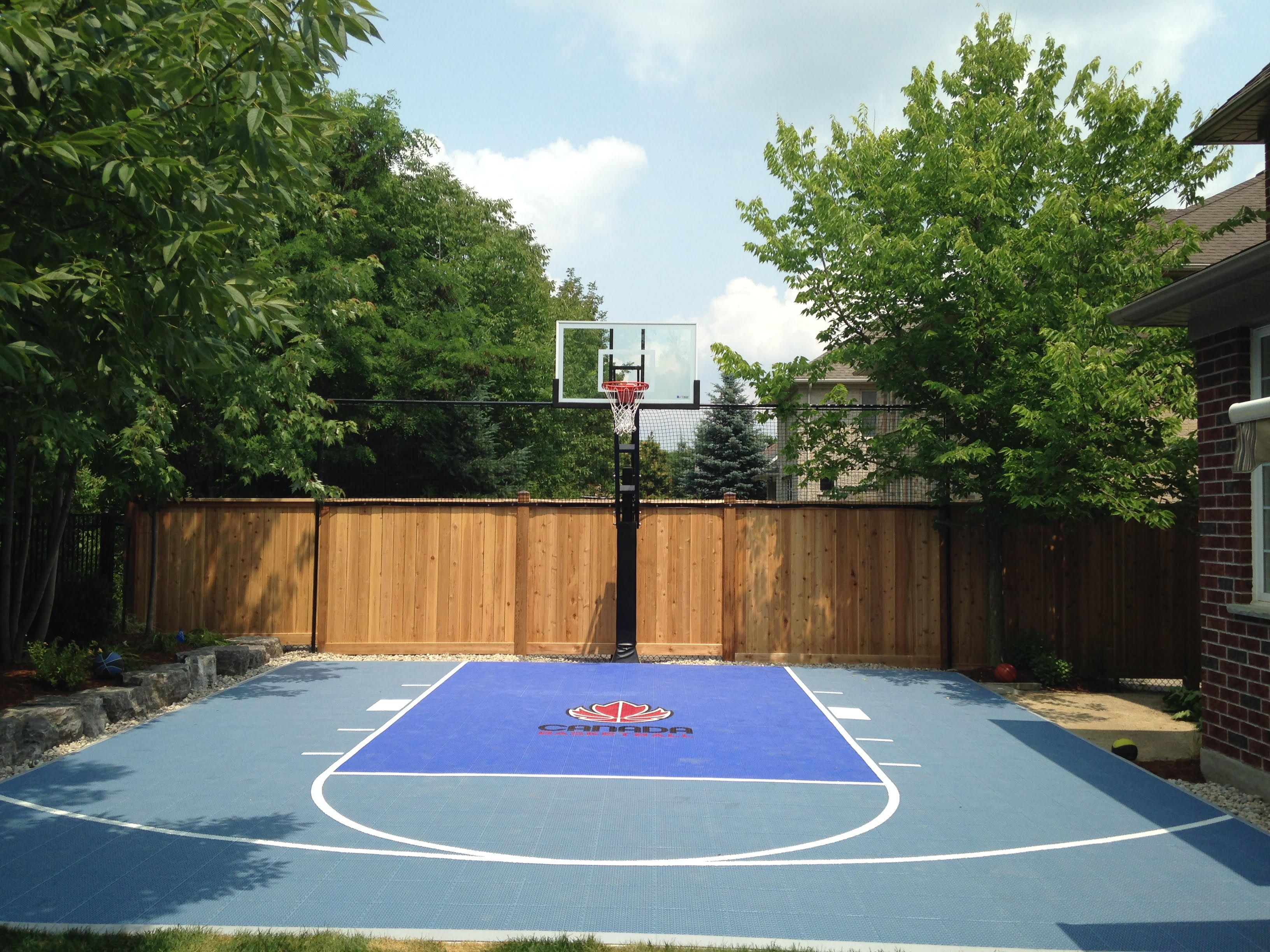 24x26 basketball court with canada basketball logo by for How wide is a basketball court