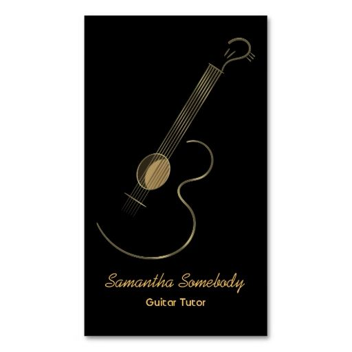 acoustic guitar logo business card template card templates