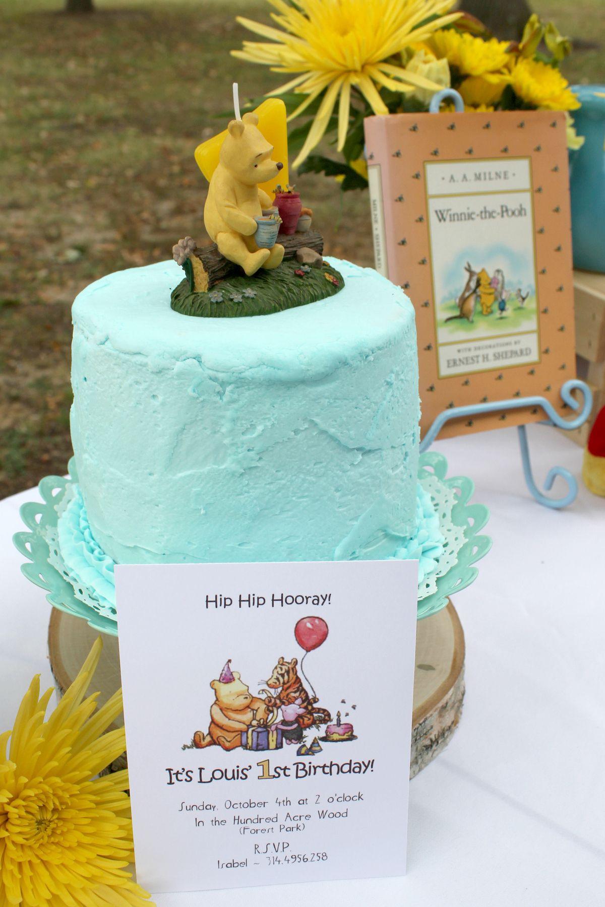winnie the pooh smash cake 1st birthday thoughtful spot classic pooh ...