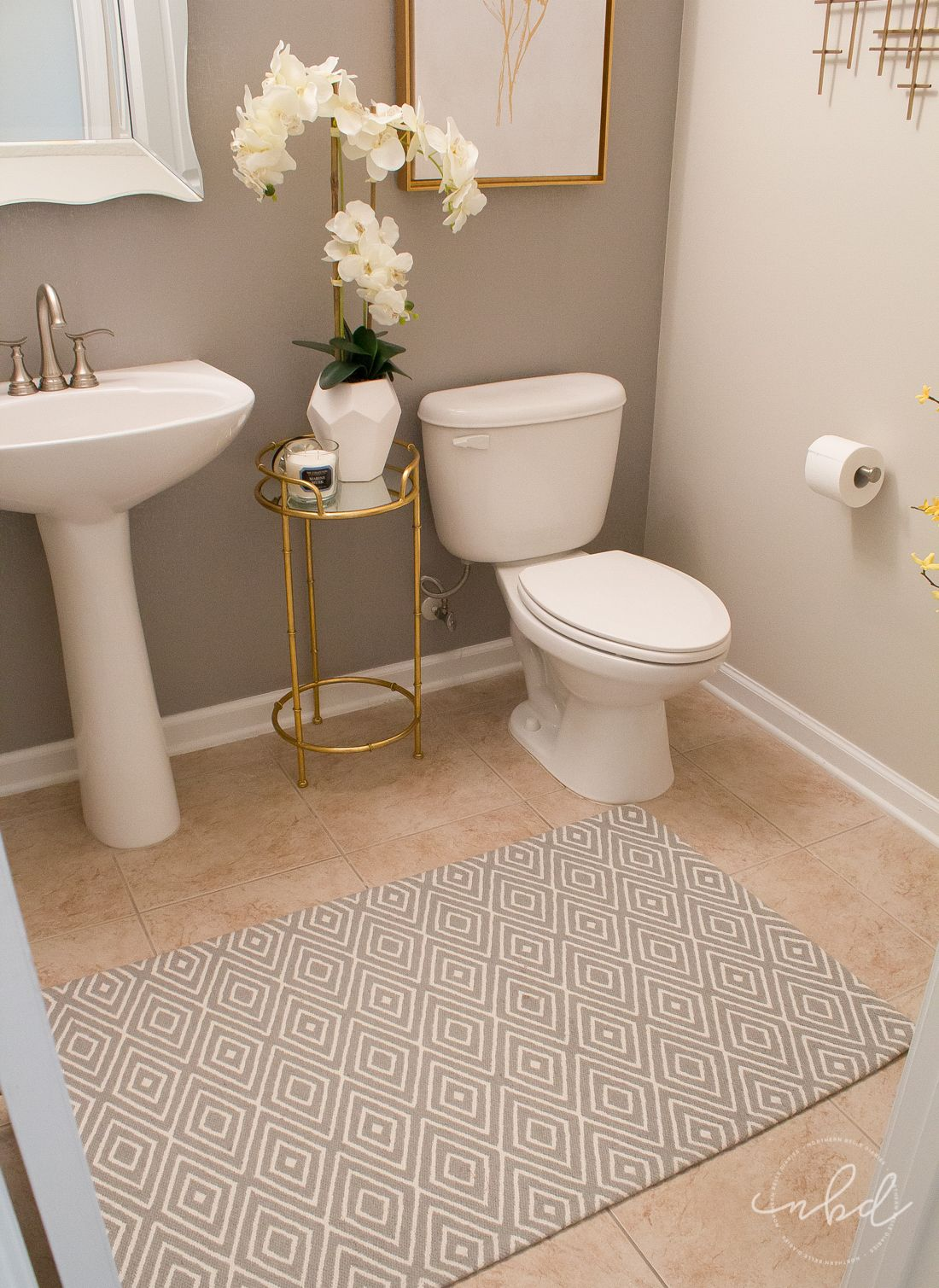 Photo of Elegant Half Bath on a Budget | Devine Color Wallpaper