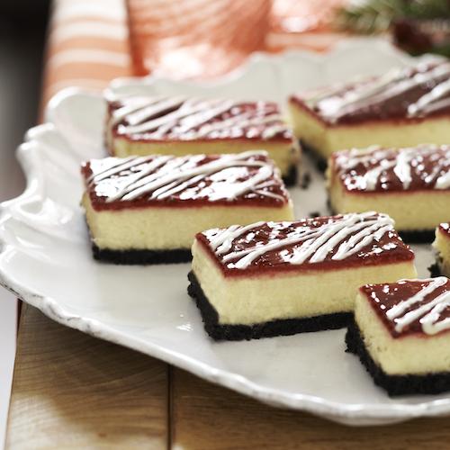 White Chocolate-Raspberry Cheesecake Bars from @Philadelphia Cream Cheese