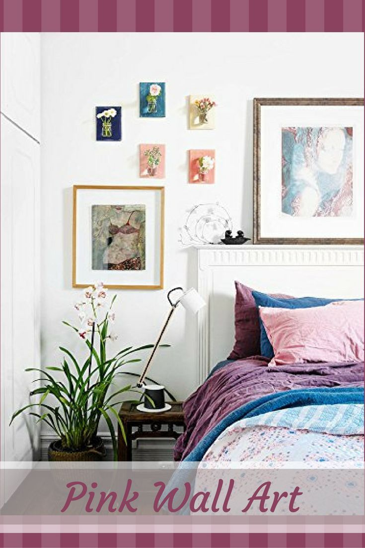 I love the look of pink wall art in fact pink wall decorations are