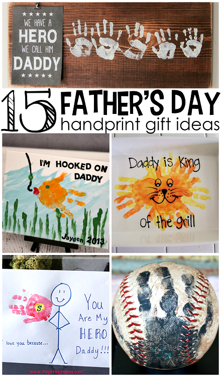 Father S Day Handprint Gift Ideas From Kids Such Cute Crafts
