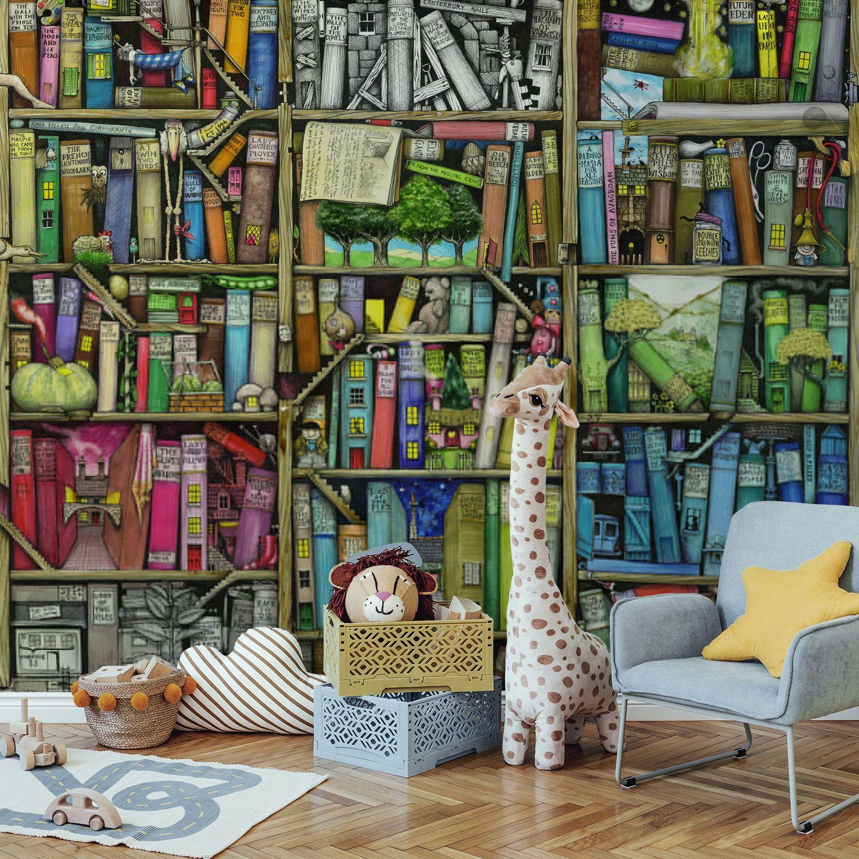 Neverending Stories Wallpaper Mural Wallsauce Us Quirky Wallpaper Accent Wallpaper Mural Wallpaper