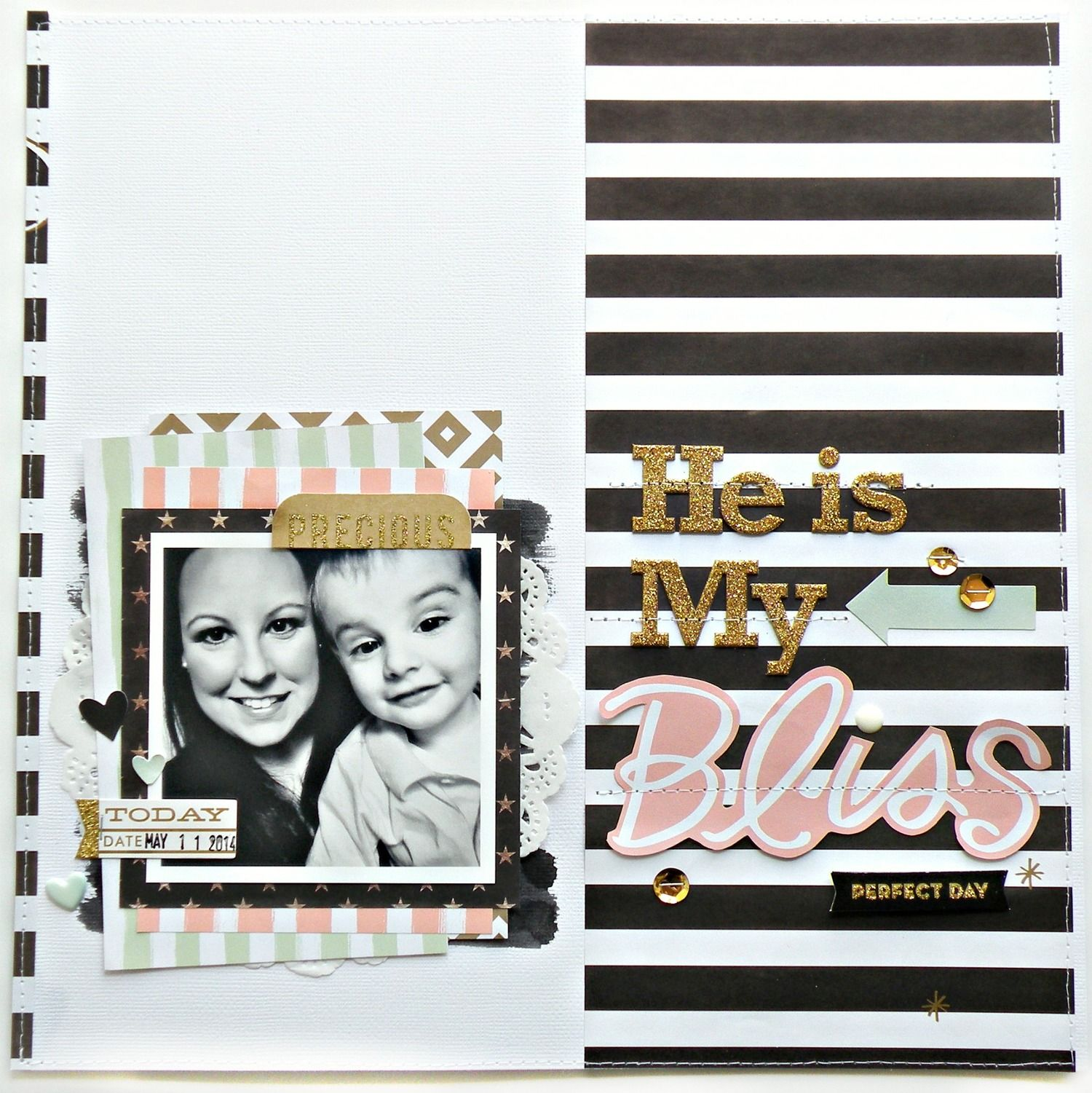 Scrapbook ideas about me - Me My Big Ideas Bliss Scrapbook Page On The Mambi Blog Using Mambikit Scrapbooking