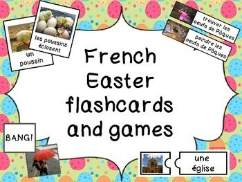 french easter flashcards and games les jeux de paques french learning french games for. Black Bedroom Furniture Sets. Home Design Ideas