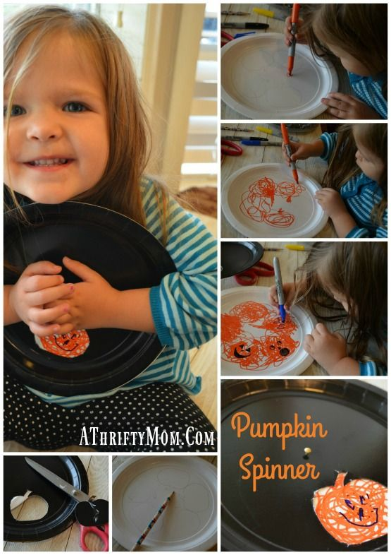 Pumpkin Face Spinner Easy Halloween Crafts For Kids The