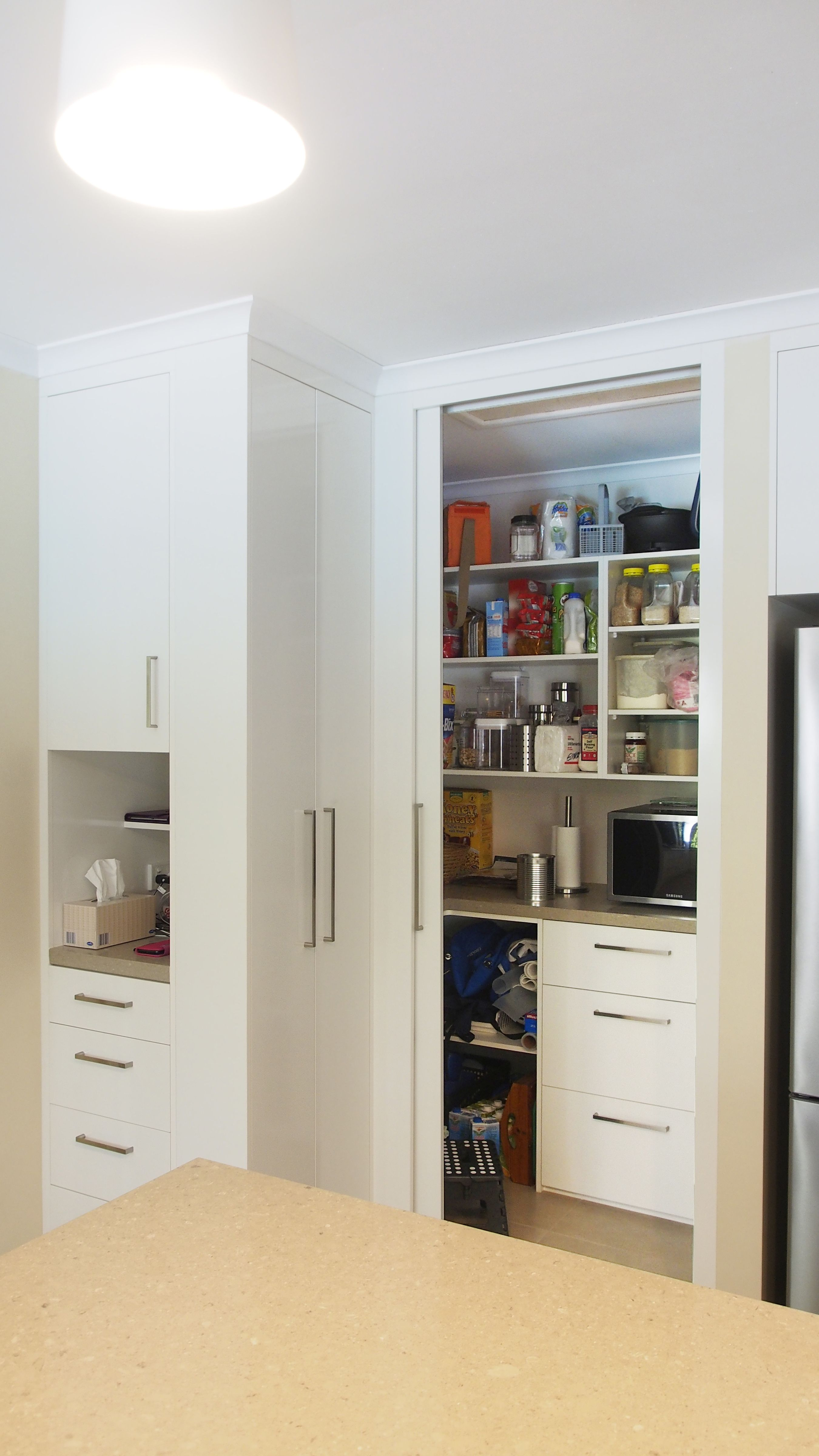 Custom made cabinets in Polytec Classic White Sheen with ...