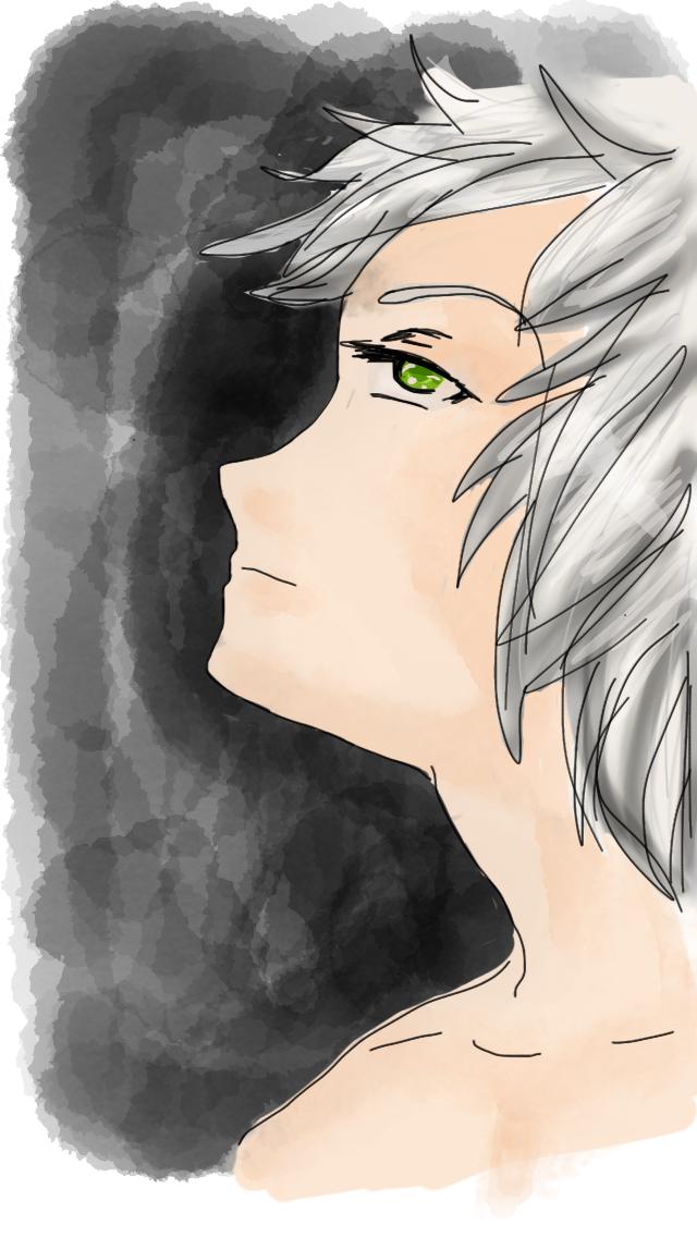 Sketches Pro Practice Generic Anime Boy Whitehair White Hair Sketches White Hair Anime