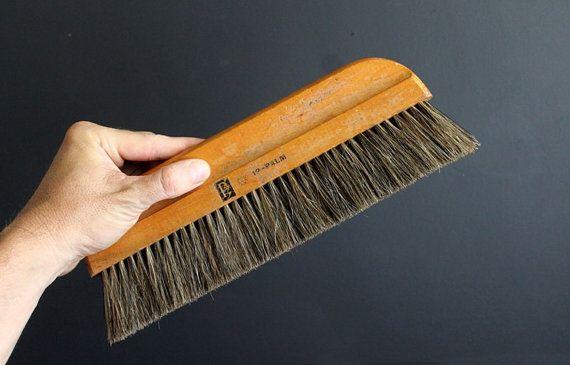 Vintage Wallpaper Brush 12 Inch Horsehair Bristle Brush
