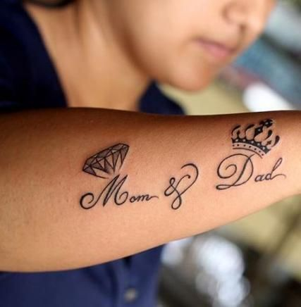 Pin By Payal Sanyal On Quote Tattoos Girls With Images Tattoos For Daughters Mom Tattoos Dad Tattoos