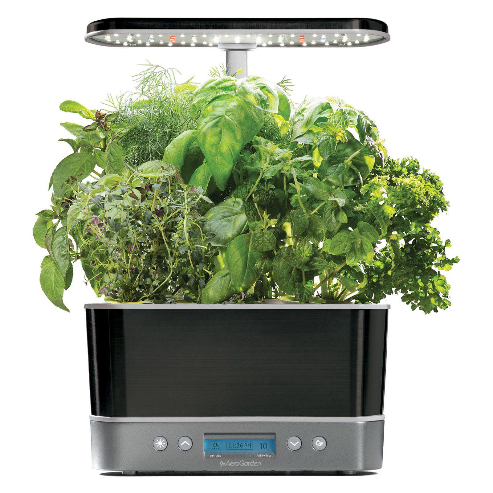 Aerogarden Harvest Elite Hydroponic Garden System Platinum 400 x 300