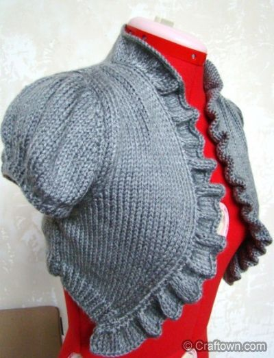 DIY Vintage Knit Bolero - FREE Knitting Pattern / Tutorial I need to make  one in black with long sleeves for work!