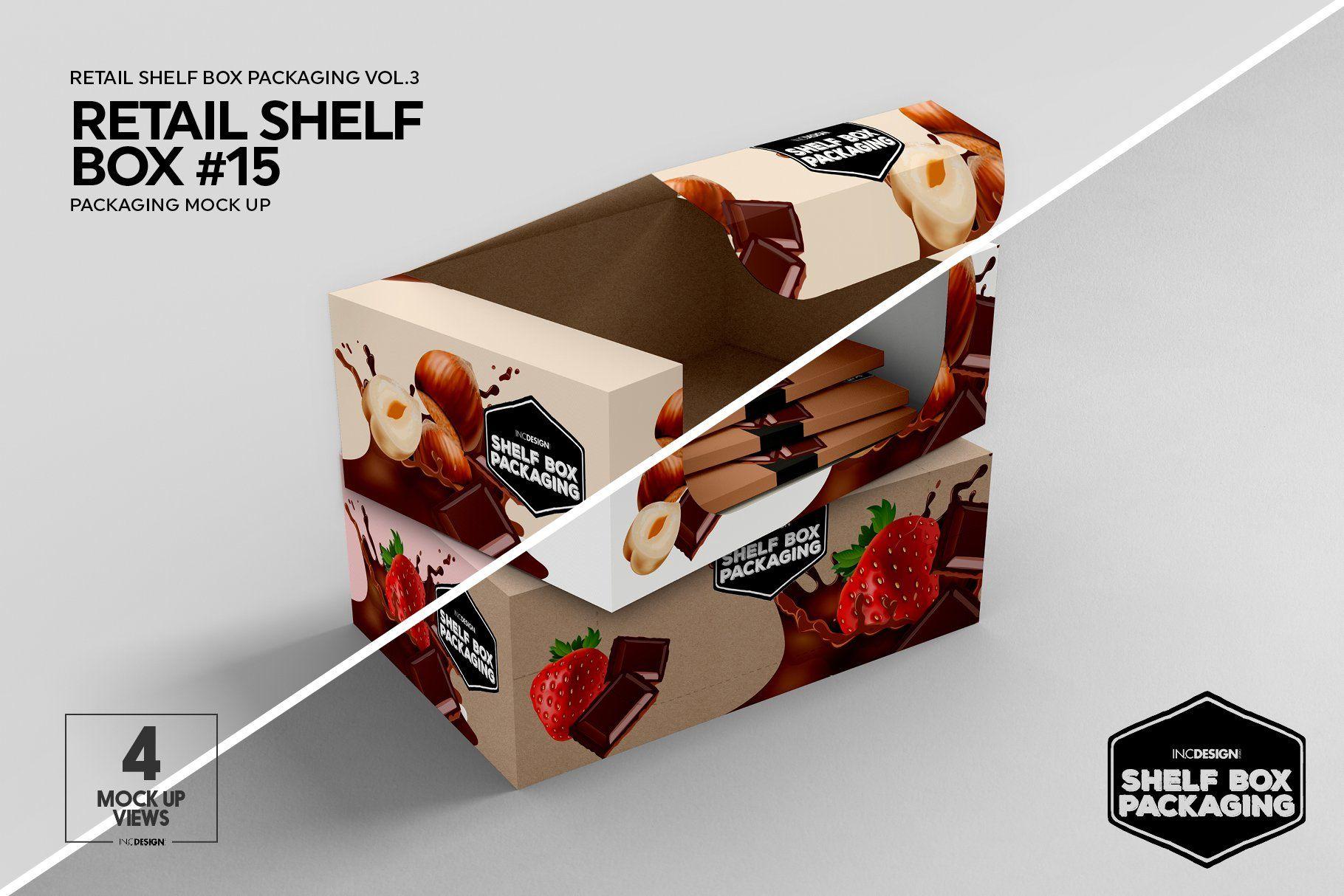 Download Retail Shelf Box Packaging Mockups3 Packaging Mockup Design Mockup Free Retail Shelving