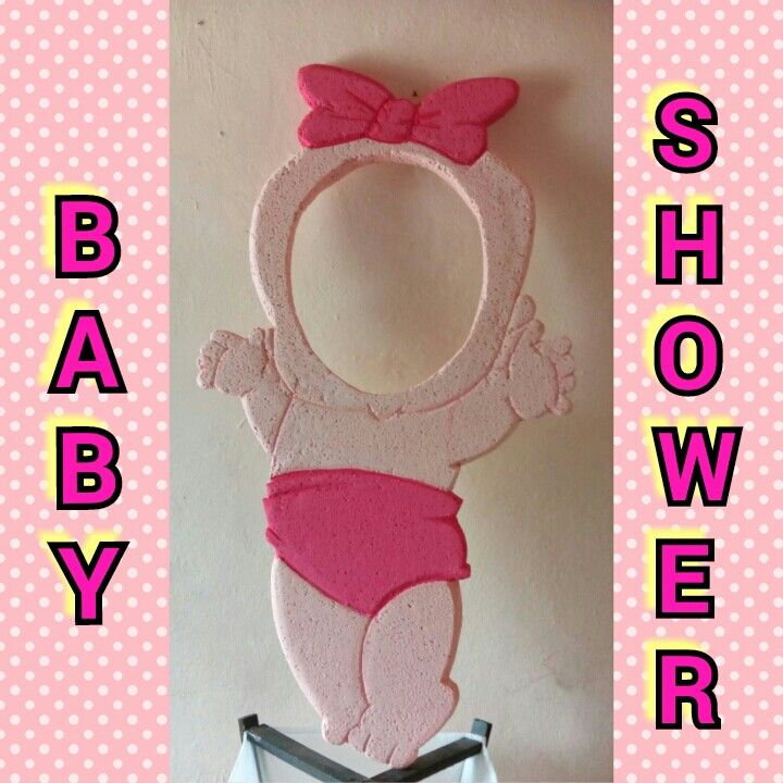 Marco para selfie... Baby shower de niña | Ym | Pinterest