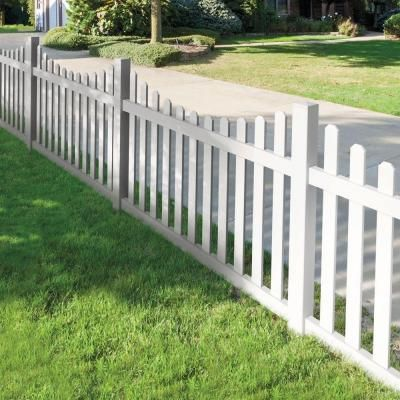 Veranda Seneca Scallop 4 Ft H X 6 Ft W White Vinyl Fence Panel Kit 73014405 The Home Depot White Vinyl Fence Backyard Fences Fence Design