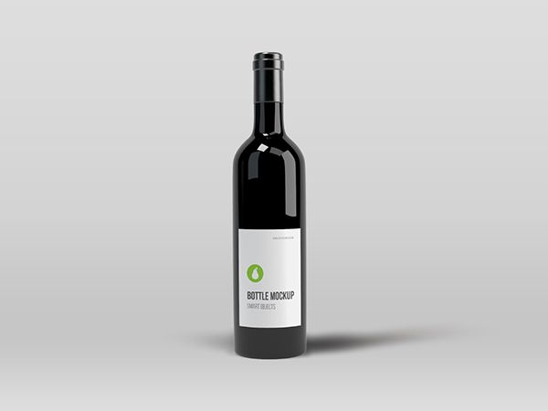 Photoshop Bottle Mockup Mock up - free wine label design