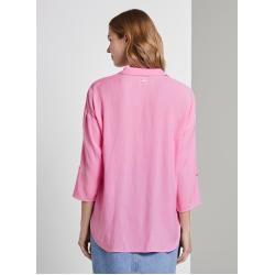 Photo of Tom Tailor Denim Women's flowing oversized shirt, pink, plain, size S Tom TailorTom Tailor